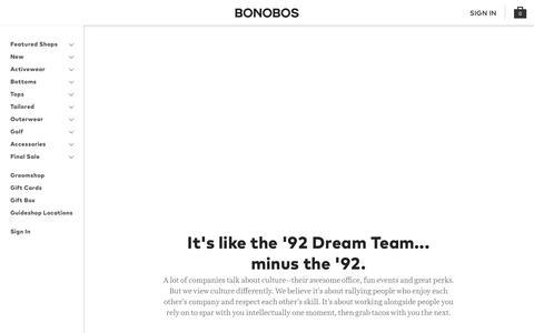 Careers | Bonobos