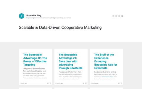 Boostable Blog