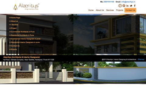 Screenshot of Site Map Page alacritys.in - Alacritys - Interior Designers In Pune | Top Interior Designers In Pune | Best Interior Designers In Pune - captured Dec. 24, 2015
