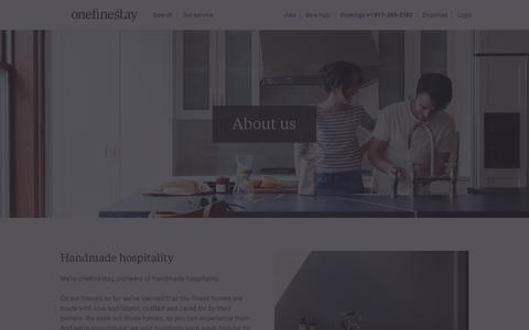 Screenshot of About Page onefinestay.com - About us | onefinestay - captured Dec. 12, 2015
