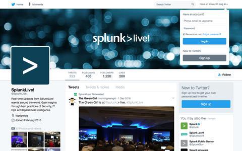 SplunkLive! (@SplunkLive) | Twitter