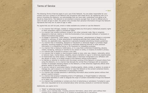 Screenshot of Terms Page dryhootch.org - Terms of Service - Dryhootch of America - captured Oct. 5, 2014
