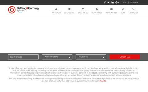 Screenshot of Home Page bgrecruitment.com - Betting Gaming Recruitment - captured Oct. 10, 2017