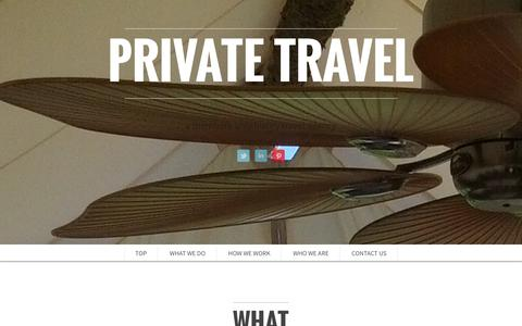 Screenshot of Home Page Contact Page private.travel - Darin Jensen—Private Travel Agent | Private Travel - captured Oct. 3, 2014