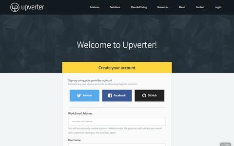 Screenshot of Signup Page upverter.com - Sign Up - Upverter - captured Feb. 4, 2016