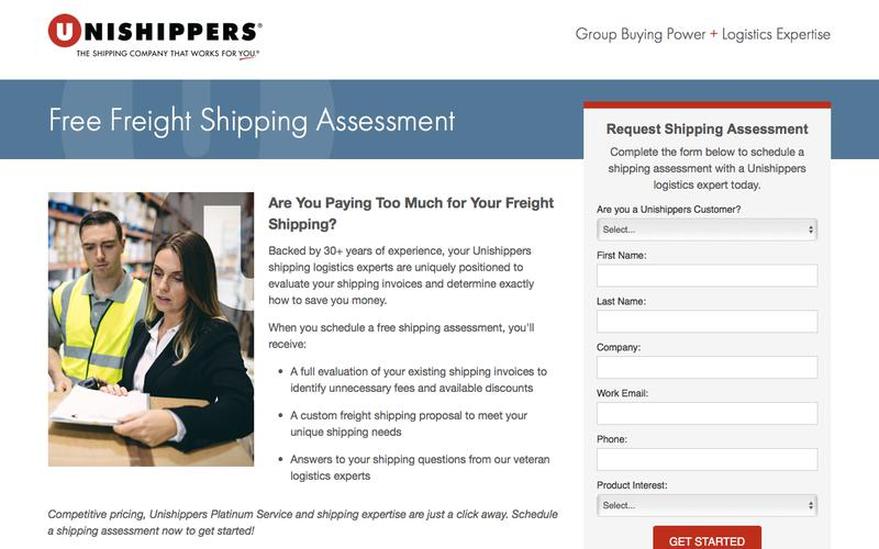 Free Freight Shipping Assessment - Unishippers