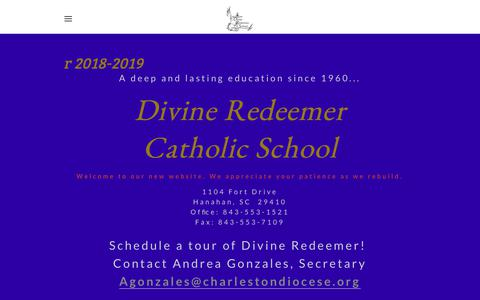 Screenshot of Home Page drcs.co - Divine Redeemer Catholic School - Divine Redeemer Catholic School - captured July 2, 2018