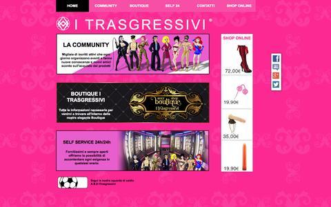Screenshot of Home Page itrasgressivi.it - I Trasgressivi - portale di trasgressioni e incontri - captured Sept. 22, 2014