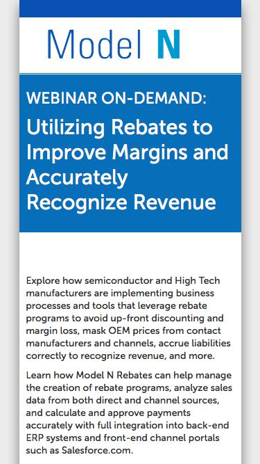Utilizing Rebates to Improve Margins and Accurately Recognize Revenue