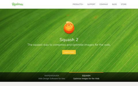 Screenshot of Home Page realmacsoftware.com - Realmac Software — RapidWeaver Web Design Software for Mac - captured Nov. 6, 2017
