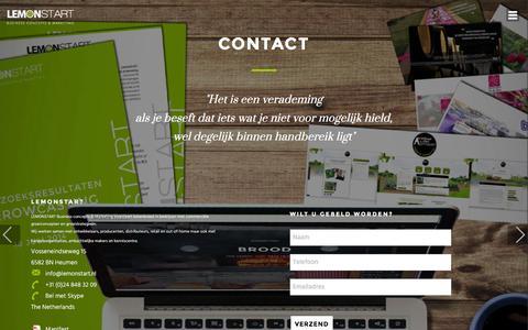Screenshot of Contact Page lemonstart.nl - Contact - captured Jan. 28, 2016
