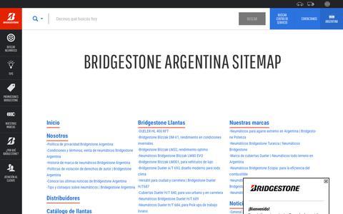 Screenshot of Site Map Page bridgestone.com.ar - Bridgestone Argentina Sitemap - captured Oct. 18, 2019