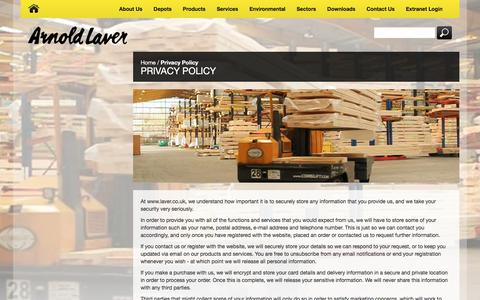 Screenshot of Privacy Page laver.co.uk - Privacy Policy - captured Oct. 8, 2017