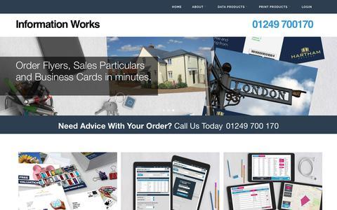 Screenshot of Home Page informationworks.co.uk - Information Works - captured June 7, 2017
