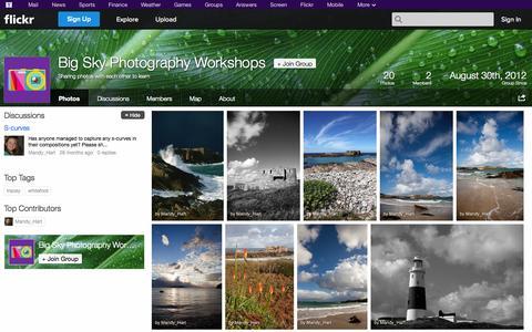 Screenshot of Flickr Page flickr.com - Flickr: The Big Sky Photography Workshops Pool - captured Oct. 23, 2014