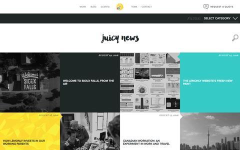 Screenshot of Blog lemonly.com - Infographic Design Blog from Lemonly - captured Sept. 13, 2016
