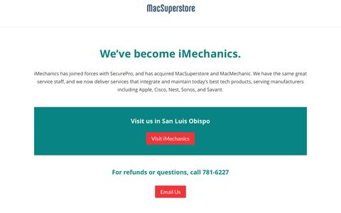 Screenshot of Home Page macsuperstore.com - MacSuperstore | Apple Premier Partner™, Mac service, iPhone service, Sonos dealer, Mac Training - captured May 27, 2017
