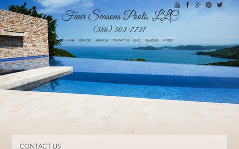 Screenshot of Contact Page poolservicespecialists.com - Contact Us - Four Seasons Pools, LLC - captured Nov. 3, 2014