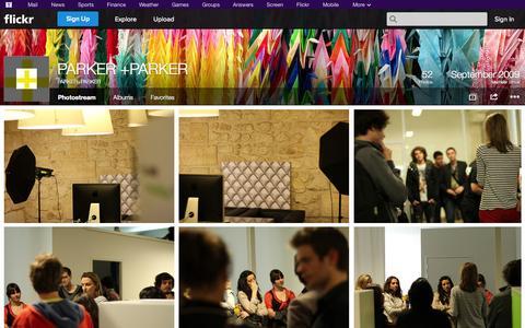 Screenshot of Flickr Page flickr.com - Flickr: PARKER+PARKER's Photostream - captured Oct. 22, 2014