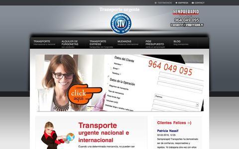 Screenshot of Home Page semprerapid.es - Transporte urgente,express internacionales e nacionales | STV - captured Feb. 7, 2016