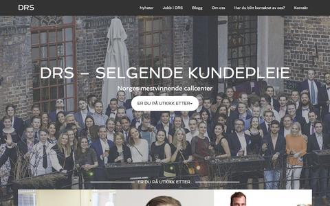 Screenshot of Home Page drs.no - DRS - Selgende kundepleie - captured Feb. 9, 2016