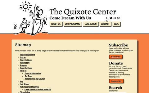 Screenshot of Site Map Page quixote.org - Sitemap | The Quixote Center - captured Nov. 16, 2016