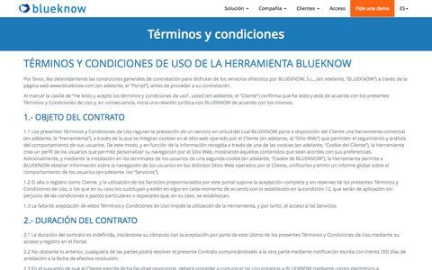 Términos y condiciones - blueknow