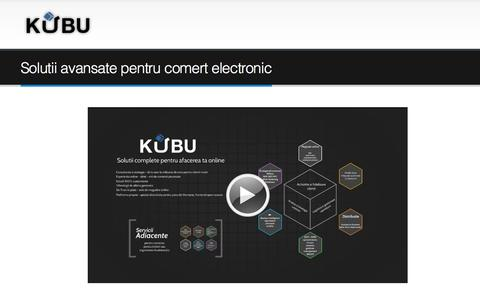 Screenshot of Contact Page kubu.ro - Contact - captured Sept. 30, 2014