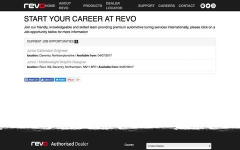 Screenshot of Jobs Page revotechnik.com - Start your Career at Revo | Revo Technik - captured Oct. 22, 2017