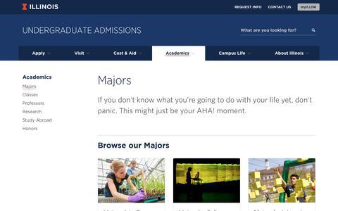Majors, Illinois Undergraduate Admissions