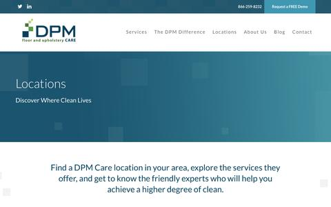 Screenshot of Locations Page dpmcare.com - Locations - DPM Care DPM Care - captured July 31, 2016
