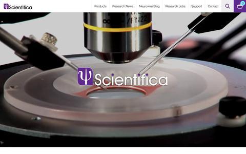 Screenshot of Home Page scientifica.uk.com - Scientifica | Experts in Electrophysiology, Imaging & Optogenetics - captured Feb. 4, 2016