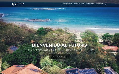 Screenshot of Home Page yuxtaenergy.com - Home - YUXTA Energy - captured Oct. 1, 2018