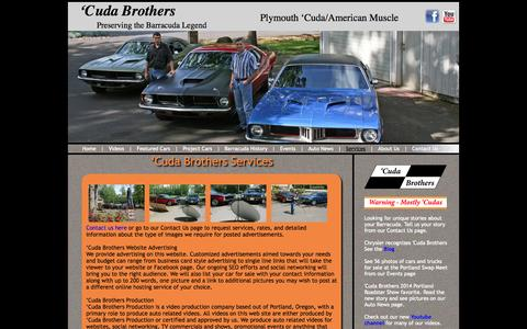 Screenshot of Services Page cudabrothers.com - 'Cuda Brothers services including auto videos � Cuda Brothers Production - captured Sept. 30, 2014