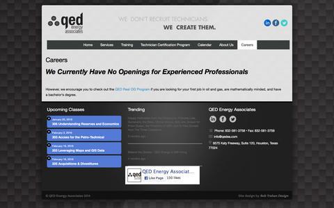 Screenshot of Jobs Page qedea.com - Careers   QED Energy Associates - captured Jan. 23, 2016