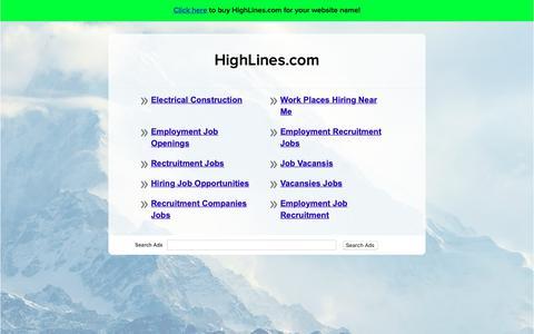 Screenshot of Home Page highlines.com - HighLines.com - captured Sept. 28, 2018