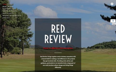 Screenshot of Home Page redreview.co.uk - Red Review - captured Oct. 6, 2014