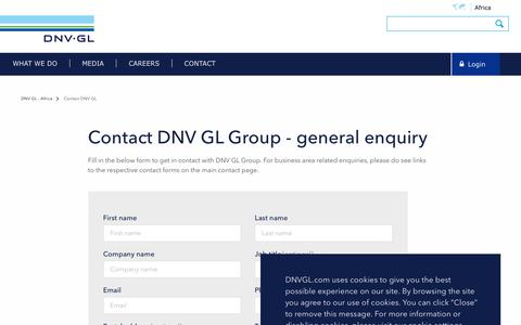 Screenshot of Contact Page dnvgl.com - Contact DNV GL Group - DNV GL - captured Dec. 7, 2019