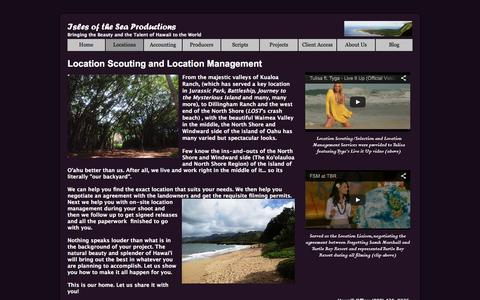 Screenshot of Locations Page islesoftheseaproductions.com - Isles of the Sea Productions: Location Scouting & Location Management - captured Jan. 9, 2016
