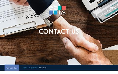 Screenshot of Contact Page ecis.org - Contact Us - Educational Collaborative for International Schools (ECIS) - captured Sept. 29, 2018