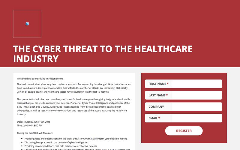 The Cyber Threat to the Healthcare Industry