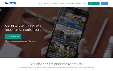 Screenshot of Home Page tecimob.com.br - Tecimob - Site para imobiliária e site para corretor de imóveis - captured Jan. 6, 2017