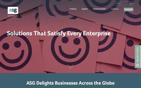 Screenshot of About Page asg.com - ASG Technologies - Solutions That Satisfy Every Enterprise | ASG.com - captured Sept. 4, 2016