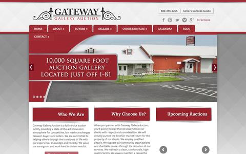 Screenshot of Home Page gatewayauction.com - Gateway Gallery Auction | Chambersburg Auctions - captured Oct. 27, 2016