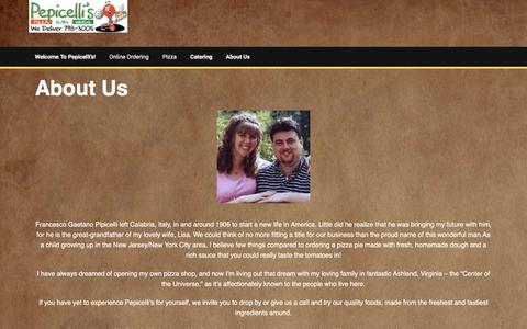 Screenshot of About Page pepicellis.com - About Us - - captured July 29, 2017