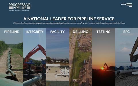 Screenshot of Services Page progpl.com - Progressive Pipeline - Progressive Pipeline - captured Sept. 9, 2017