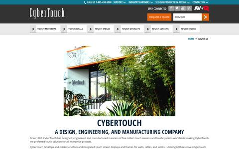 Screenshot of About Page cybertouch.com - About Us - captured Sept. 26, 2014
