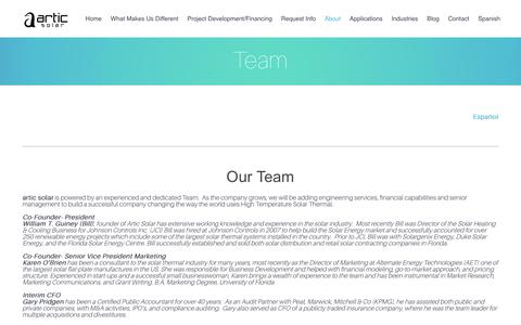 Screenshot of Team Page articsolar.com - Team - Articsolar - captured Feb. 10, 2018