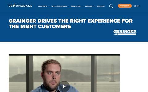 Screenshot of Case Studies Page demandbase.com - Grainger's Revolutionary Customer Experiences | Account-Based Marketing – Demandbase - captured Nov. 6, 2019