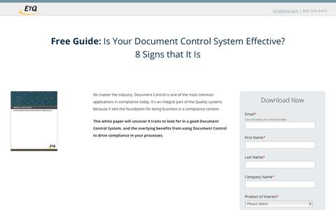 Is Your Document Control System Effective? 8 Signs that It Is